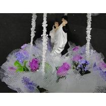Topo Bolo Casal Dançando Valsa Noivo Vestido Terno Casamento