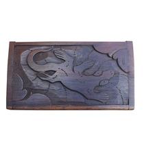Caixa Decorativa Em Madeira Gecko 14x09cm - Artesanato Bali