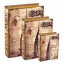 Conjunto Caixa Livro - 3 Peças Em Mdf Linda Estampa New York