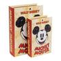 Jogo De Caixas Livro Porta Treko Mickey Retro Classic Madeir