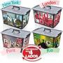 Caixa Plástica Organizadora Container 50 L - Grátis Lixeira