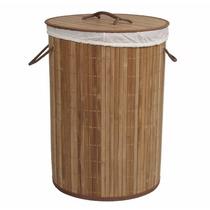 Cesto De Bambu Natural, Alças, Verniz, Decoração, Casa