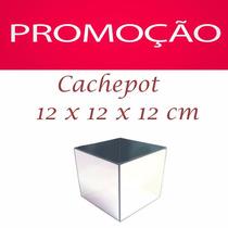 Cachepot Vaso Espelhado 12 Cm Quadrado Decoração - Promoção