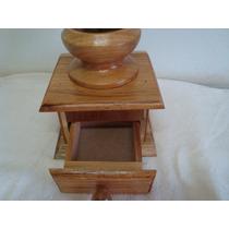 Moedor Triturador,de Grãos Pimenta Ou Café Em Madeira Caixa
