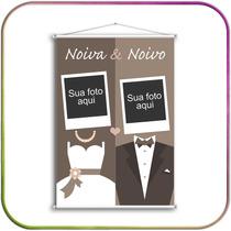 Casamento - Banner Em Lona Personalizado, Vários Modelos!