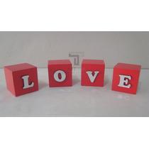 Enfeite Cubo Palavra Love Decoração Mdf Casa Quarto Casal