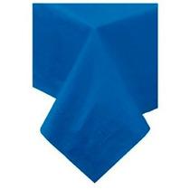 Toalha De Mesa De Papel,forro Plástico,azul Marinho, 1,4x2,7