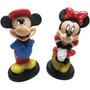 Mickey E Minnie Boneco Resina Disney - Valor É Para O Casal