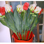 *0299*flor Importada Tulipas De Seda E Silicone