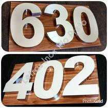 Números Aço Inox P/ Casas Residencias 20 Cm