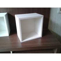 Nicho Mdf Branco Para Quarto De Criança 30x30x20(cm)
