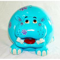 Cofrinho Decorativo Hipopótamo Em Resina Cofre Quarto