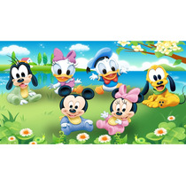Painel Decoração Festa Baby Disney - Mickey Minnie Baby 2x1
