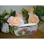 Flores Artificiais Buque De Rosas Chanpanhe