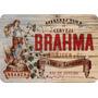 2 Quadros Placa Brahma Chopp Retro 40cm