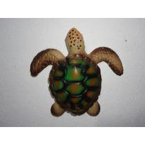 Tartaruga Em Resina Com Fibra De Vidro Decoração.