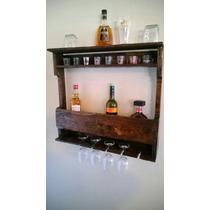 Adega Madeira Bar Bebidas Garrafa Prateleira Vinho Drink