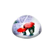 Peso De Mesa Umbrella Red Em Vidro