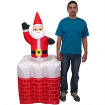Papai Noel Natal Sobe Desce Inflavel Chamine Animado Loja
