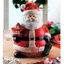 Pote De Biscoitos Natalino Ceramica, Enfeite Natal Decoração