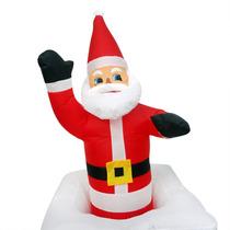 Papai Noel Natal Eletrico Sobe Desce Inflavel Chamine Animad