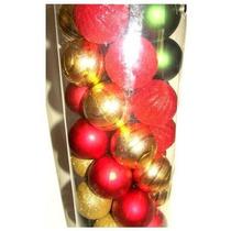 Conjunto De 50 Bolas Para Árvore De Natal Decoração Colorida