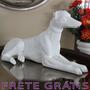 Estatua / Estatueta Cachorro Dog Deitado Em Resina - Bu191
