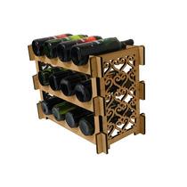 Adega Suporte Prateleira 12 Garrafas Vinho Whisky Cerveja