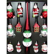 Enfeite Decoração Natal Importado 13 Peças Ponteira Gigante