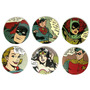6 Porta Copos Mdf Dc Comics Originals Super Heróis!