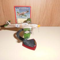 Aviao Miniatura Messerschmitt 8x9cms Na Caixa C/pedestal