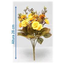 Flores Artificiais Importadas Bq Rosa Mini 28 Cm - 1 Unid