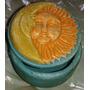 Porta Joias Azul Claro Com Sol E Lua - Cód Es06