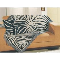 Manta Decorativa P/ Sofá 1,50m X1,00m Zebra- Lar Connect