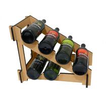 Adega Suporte Prateleira 6 Garrafas Vinho Whisky Cerveja