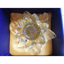 Flor De Lotus Cristal Amarela 14cms C/cx Para Presente