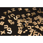Letras Acrílico Espelhado Dourado Corte Laser 1,5 Cm Kit 5pç