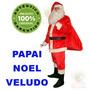 Roupa De Papai Noel Em Veludo Kit Profissional Com 10 Itens