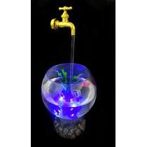 Linda Fonte De Água Mágica Com Aquário Peixe - Promoção