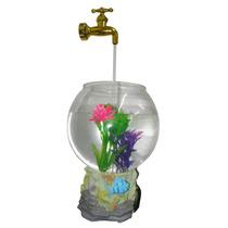 Aquario Magico Fonte De Agua Led Para Decoracao Com Torneira