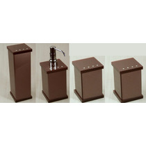Kit Potes P/ Banheiro Acrílico C/ Strass Chocolate_personali