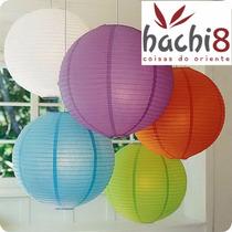 10 Balão Japonês Lanterna Tyotin Chinesa Coloridas Hachi8