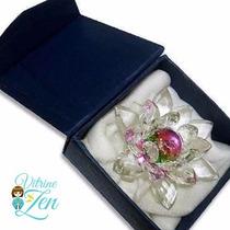 Flor De Lotus Cristal 10 Cm - C/caixa De Presente