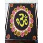Panô Estampado Tecido Indiano Mantra Símbolo Om Meditação Gg