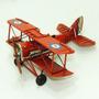 Avião Decorativo Antigo Em Metal Asa Dupla Guerra Steampunk