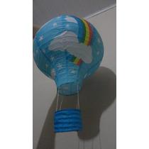 Luminária Japonesa Formato Balão 60cm Azul
