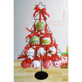 Árvore Natal 63cm C/ 20 Bolinhas Decoração Arranjo De Mesa
