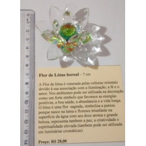 Flor De Lotus Em Cristal Com Miolo Boreal (aprox. 7 Cm)