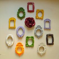 Conjunto Mini Espelhos E Rosa De Parede ( 13 Pçs).