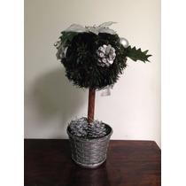 Mini Árvore Decorada Em Prata 33cm - Natália Christmas